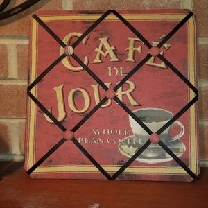 Fabric Cafe de Jour Sign